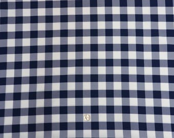 60 X 102 Inch Rectangular Navy And White Checkered Tablecloth Polyester |  Wedding Tablecloth