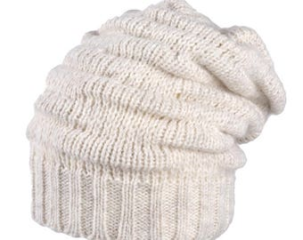 Women's Girl's Winter Slouchy Fleece Lined Band Wool Ski Beanie Skully Hat