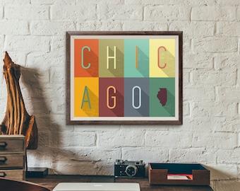 Chicago Grid - Typography Print