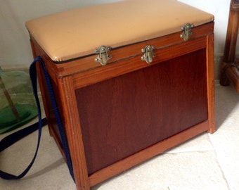 Old fishing storage stool / made in France