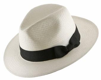 Ultrafino Trilby Fedora Straw Panama Hat