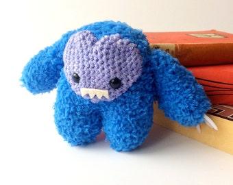 SALE Blue Fluffy Imp Fairytale Gremlin Monster Plush