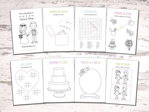 Hochzeitsmalbuch PDF Pretty Malbuch Hochzeit
