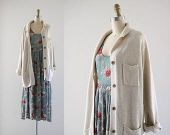 pocketed slouch cardigan