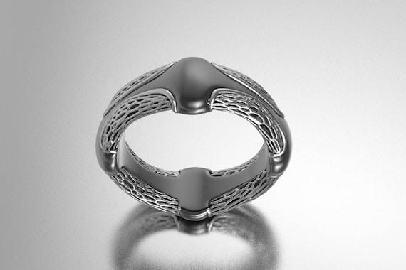alien ring Sci fi ring giger ring geek wedding ring
