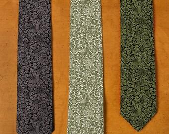William Morris Tie - Floral Tie - Men's Neckties - Groomsman Tie - Wedding Tie - William Morris Art