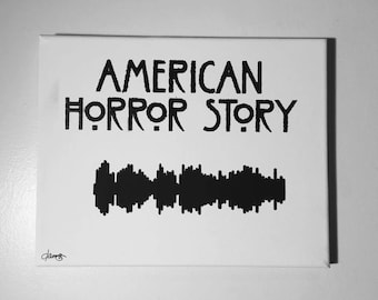 American Horror Story Painted Sound Wave