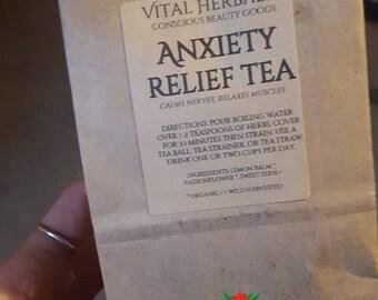 Anxiety relief tea, passionflower tea, lemon balm tea, anti-anxiety tea, herbal tea blend, sleepy tea