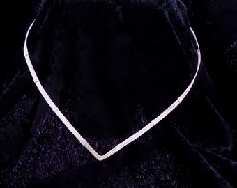 Made to Order Handmade Sterling Silver or Gold Filled Collar