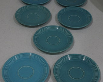FIESTA Ware turquoise saucers