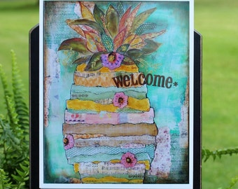Art Print of Mixed Media Original artwork titled Welcome
