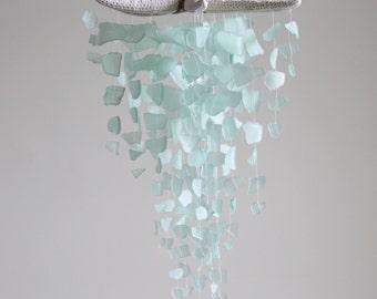 Sea Glass & Starfish Mobile - Seafoam