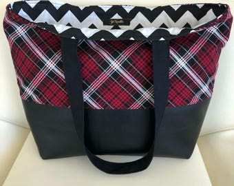 JeNoelle Plaid Me Up Tote