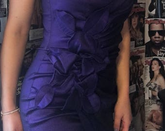 Purple mini dress