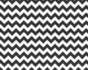 1 yard - Small Chevron in black,  Riley Blake fabric.