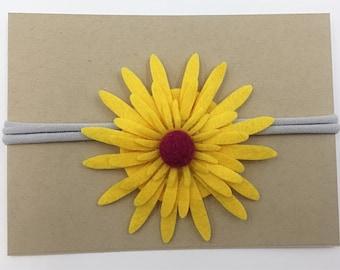 Yellow Daisy Headband
