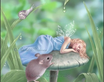 Sweet Dreams Fairy Art Print