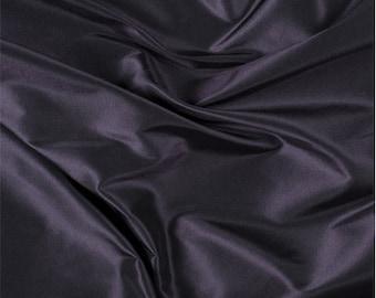 Aubergine Silk Taffeta, Fabric By The Yard