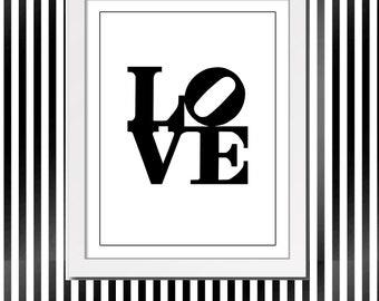 Philadelphia Love Sculpture Sign Wedding Philly Love Symbol Digital Clipart Instant Download