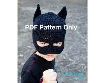 Crochet newborn pattern batman etsy batman beanie with or without mask pattern only crochet size newborn dt1010fo
