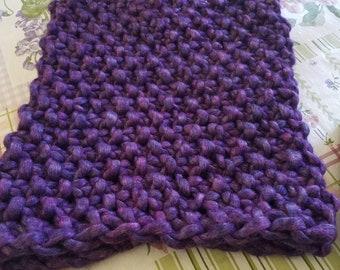 Purple Chunky Knit Cowl