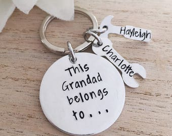 Grandad Gift - Dad Keyring - Personalised Daddy Keychain - Uncle Keyring - Christmas Gift - Christmas Gift - Stocking Filler - Fathers Day