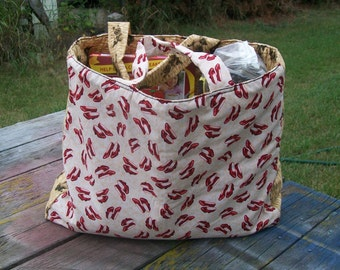 Red Slippers Tote Bag Grocery Bag Shopping Bag Ready To Ship