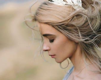 Bridal Tiara, Bridal silver crown, Silver wedding headpiece, Bridal hair wreath, Hair Accessories