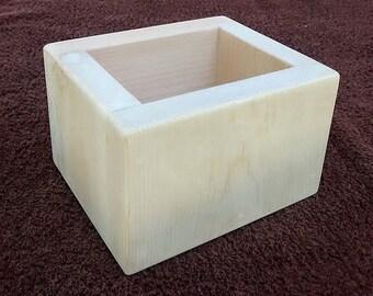 1 LB Wood Soap Mold Box- Pine Wood