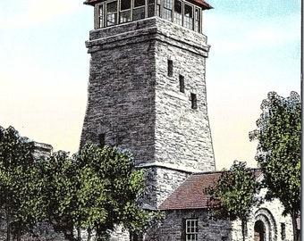 Mt. Cheaha, State Park, Alabama, Bunker Tower - Postcard - Vintage Postcard - Unused (UU)