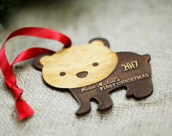 Baby's First Christmas Ornament 2017 Personalized Baby Name Ornament Personalized Ornament Baby Christmas Gift, Baby's 1st Christmas