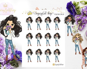 Miss Glam Lady D Photographer Planner Stickers