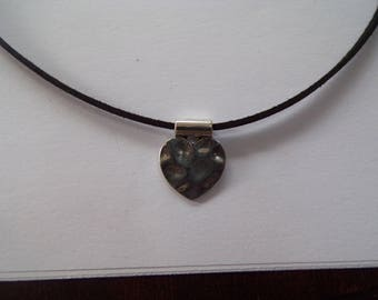 hammered heart necklace