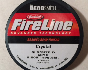 Fireline, 6 Lb., Crystal, FL06CR50, 1 Spool, 50 Yards
