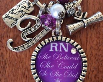 RN Gifts, Nurse Gift, RN Key Chain, Nurse Keychain, Nurse Graduate, Gift For Nurse, Gift For RN Nurse, Nurse Graduation, Registered Nurse