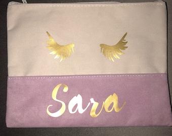 Personalized Makeup Bag - Slim Profile; Monogram or First Name