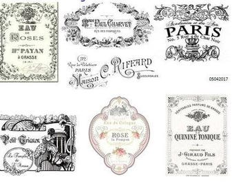 MoRe ViNTaGe FRenCh AdVerTiSiNg LaBeLs ShaBby DeCALs