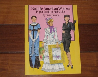 1989 Notable American Women Paper Doll Book by Tom Tierney (Uncut)
