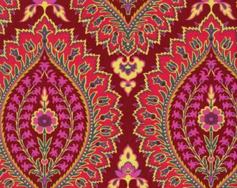 18 X 20 LAMINATED cotton fabric yardage - Alchemy Imperial Paisley by Amy Butler - BPA free - Approved for children