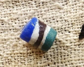 African bead tube glass, handmade