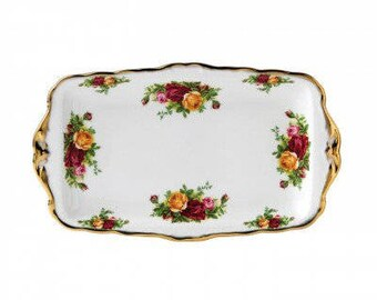 Royal Albert Old Country Roses sandwich platter