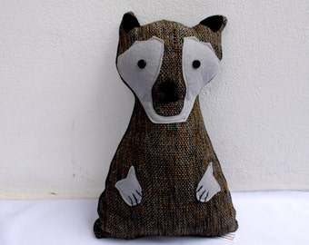 the wolf-handwoven softie, plush, pillow