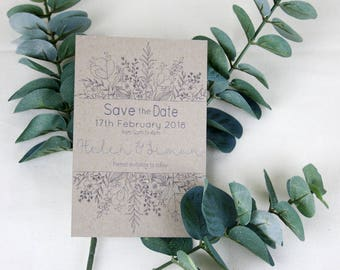 Wildflower Save the Date Card