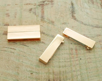set of 5 gold magnetic clasps