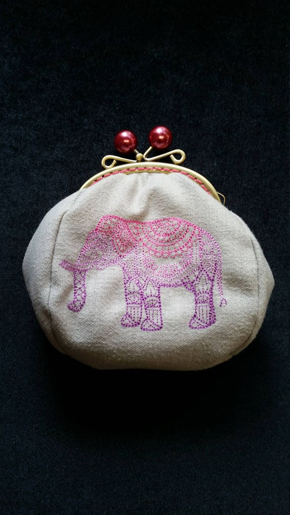 CP118. Elegant elephant coin purse