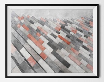 Architectural Prints, Architecture, Building Facade, Abstract Art, Architectural Poster, Modern Home Decor, Architect Gift, INSTANT DOWNLOAD