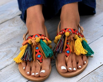 "Handmade Leather Sandals made to order, ""Afrika"" Sandals"