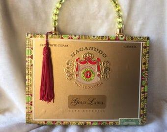 Cigar Box Purse Macanudo Gold Label Cigars Handbag