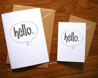 Hello Type Greetings Card.
