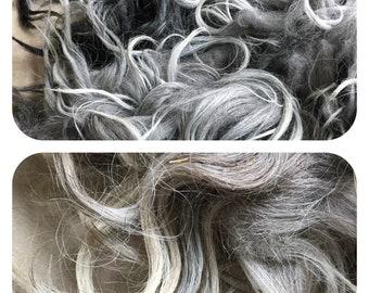 Karakul Long Locks:  Silver or Blond for Needle Felting, Spinning, Rug Making, 2 oz